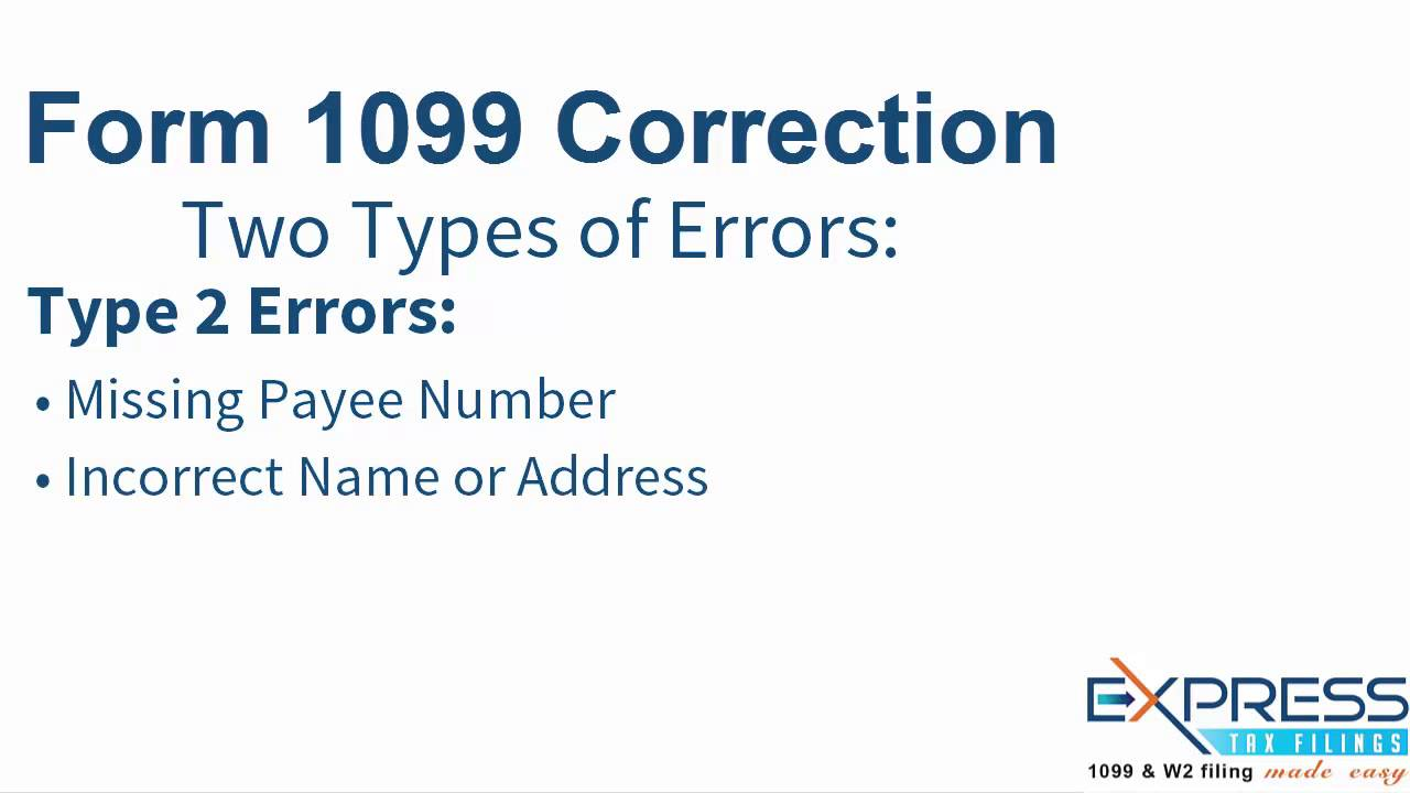 Irs form 1099 correction expresstaxfilings youtube irs form 1099 correction expresstaxfilings falaconquin