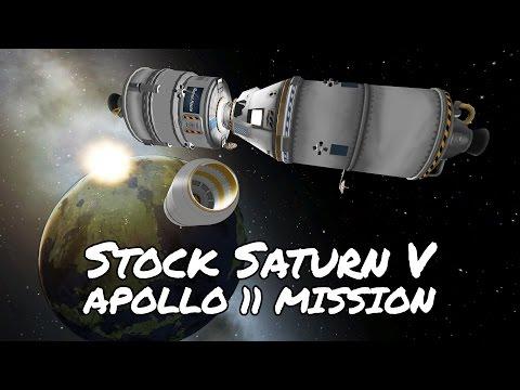 KSP Saturn V Apollo 11 with Kerbnet Anomalies (Tutorial:35) Kerbal Space Program 1.2 -  Stock Parts