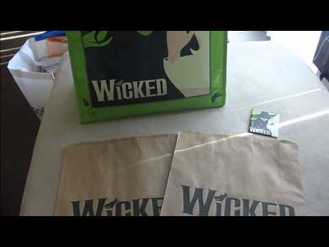 Wicked Musical stuff (Feb. 2013 Segerstrom - Costa Mesa)  Signed Poster, Fridge Magnet, and Bags