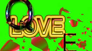 Q Love E Letter Green Screen For WhatsApp Status | Q & E Love,Effects chroma key Animated Video