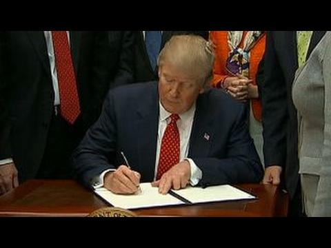 President Trump signs order to revoke Clean Water Rule