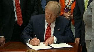 President Trump signs order to revoke Clean Water Rule