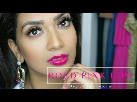 Bold Pink Lips & Hair Makeup Tutorial