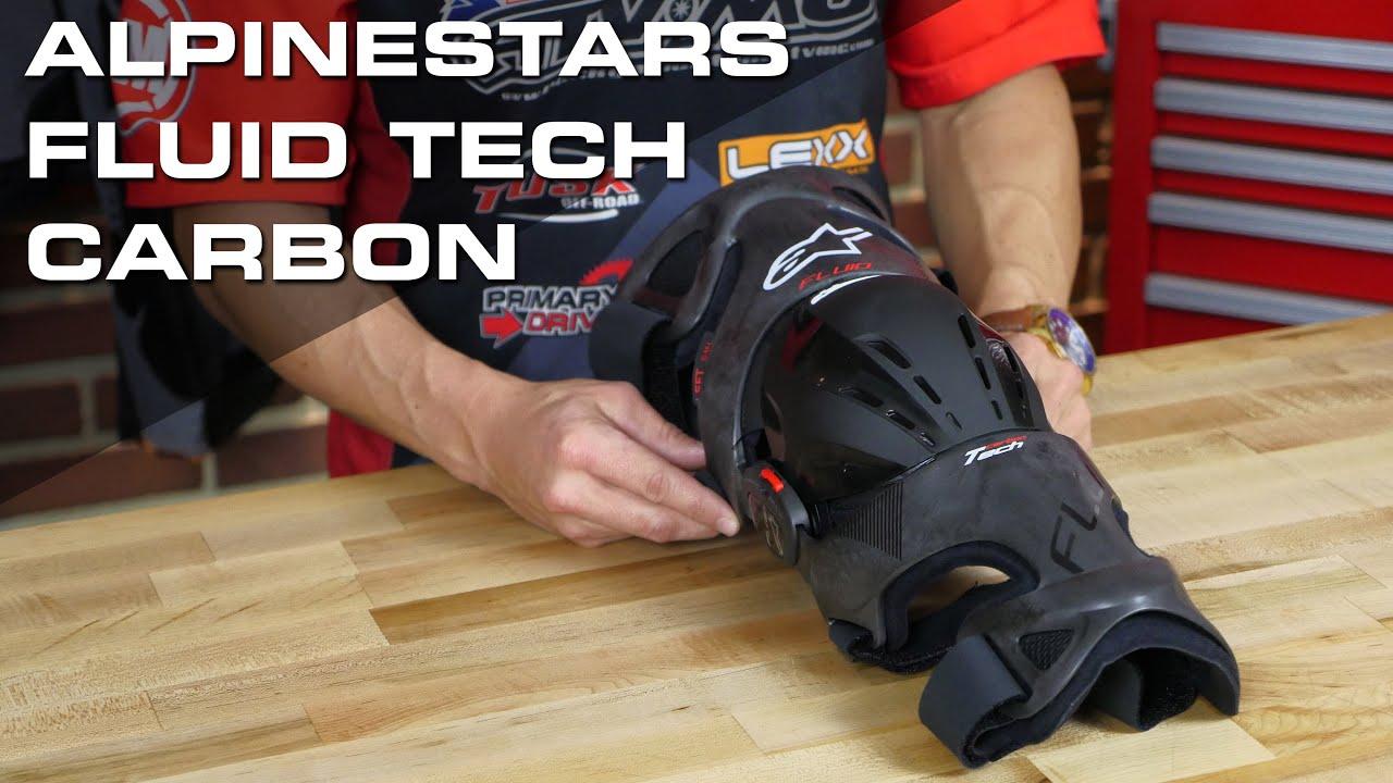baa2896612 Alpinestars Fluid Tech Carbon Knee Brace Review - YouTube