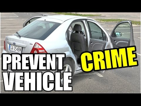 23 simple tips/tricks to prevent motor vehicle car crime/thefts besides a security system,