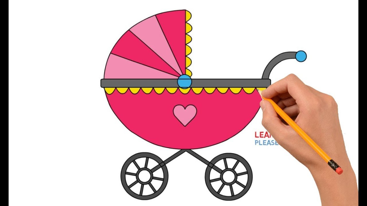 How To Draw a Baby Stroller Step By Step Easy