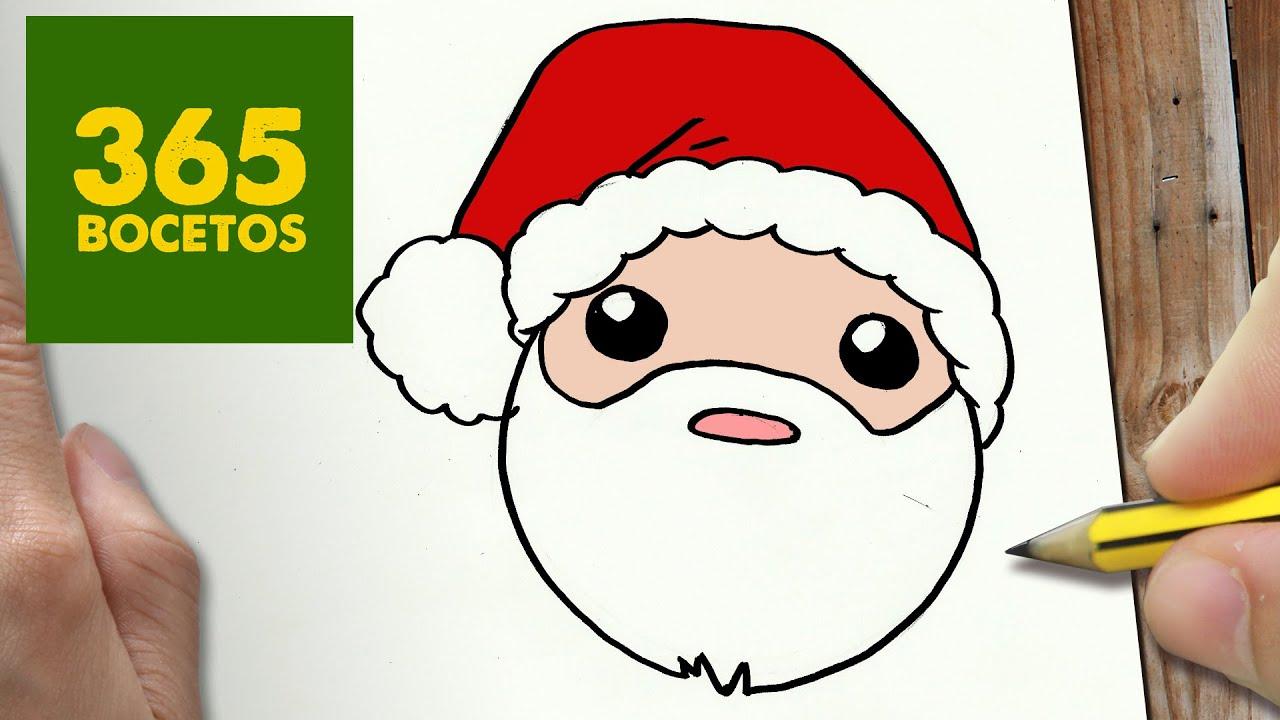Como Dibujar A Santa Claus Para Navidad Paso A Paso Dibujos Kawaii