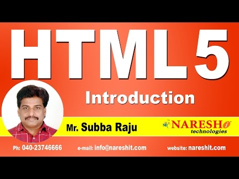 Introduction To HTML 5 || Web Technologies Tutorial