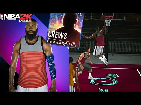 Build Creation & First Game In NBA 2K MOBILE CREWS!! NBA 2K MOBILE My Park Gameplay!!