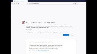 connexion non sécurisée Firefox (SEC ERROR UNKNOWN ISSUER)