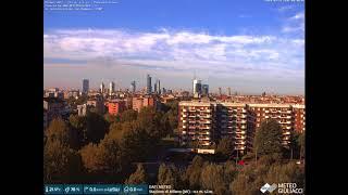Temporale a Milano Nordest alle ore 19.00  visto dalla Webcam. MeteoGiuliacci