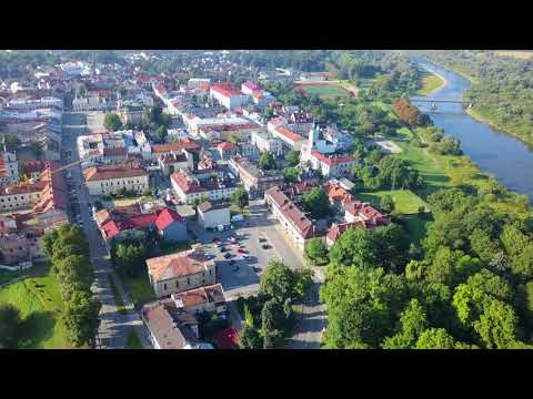 Nowy Sacz from above in 4k