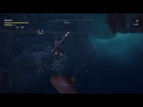 Ac Odyssey Weird Swimming Out Of Bounds Glitch Fate Of Atlantis