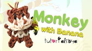 bobblehead monkey with banana animal charm mini figurine tutorial   how to