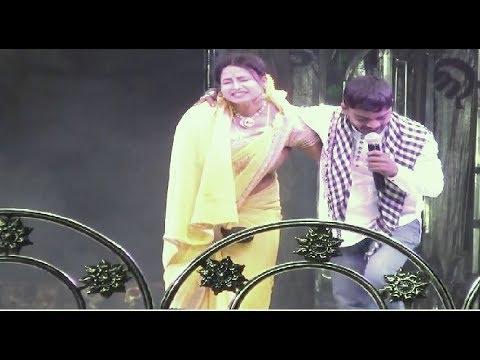 Jatra Ranga Mahal Singer Badri Narayan and Singer Srabani || Full Romantic Scene