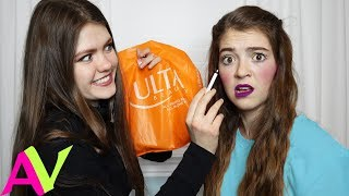 Buying Everything My Sister Touches Blindfolded - MAKEOVER / Aud Vlogs