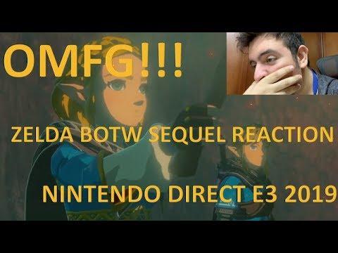 ZELDA BREATH OF THE WILD SECUELA REACCIÓN || NINTENDO DIRECT E3 2019