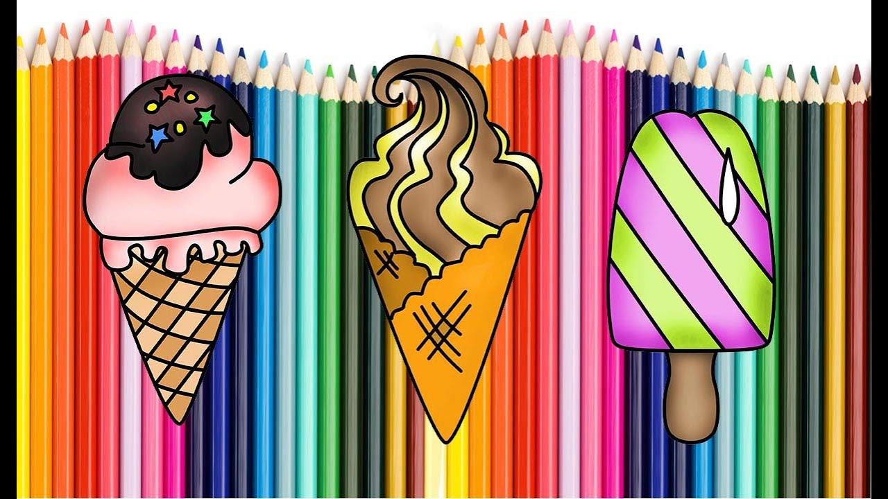 Как нарисовать мороженное | Мультик раскраска | How To ...