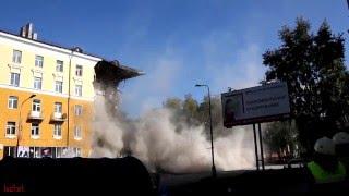 Разрушение дома в Северодвинске