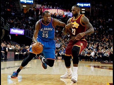 4d349d96d6e LeBron James Duels Kevin Durant in Cleveland - YouTube
