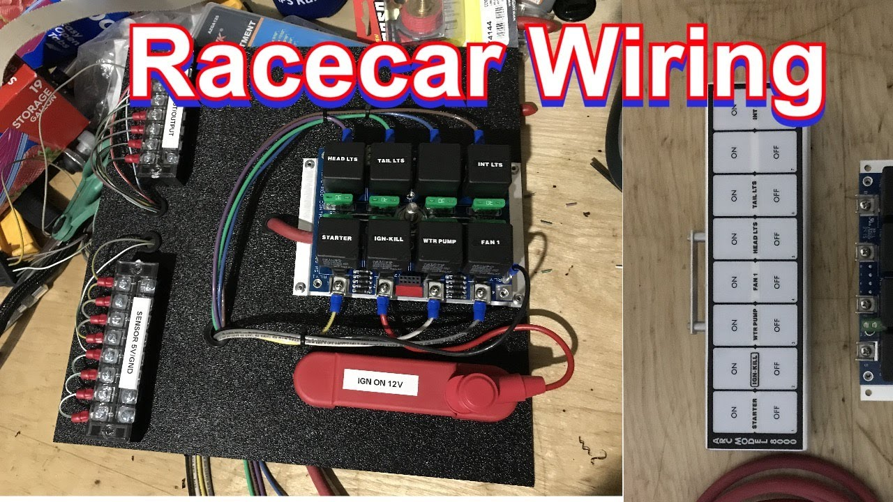 How I Rewired My Racecar With An Arc 8000 Switch Panel Youtube