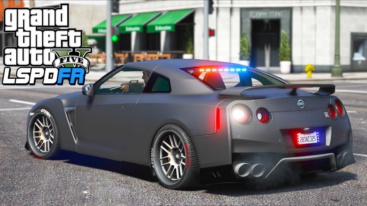 GTA 5 Mods - Undercover Police GTR!! (LSPDFR Gameplay)