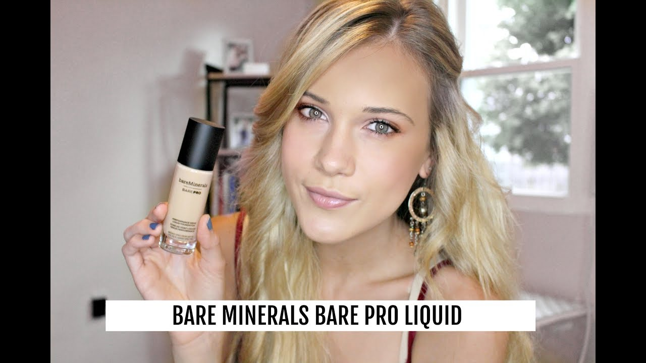 New Bare Minerals Barepro Liquid Foundation Review Youtube