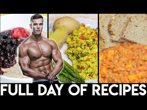 FULL DAY OF VEGAN RECIPES | High Protein Fitness Meals