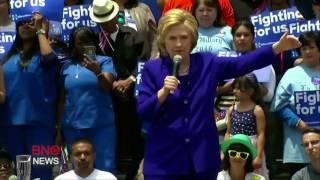 Hillary Clinton becomes presumptive Democratic presidential nominee