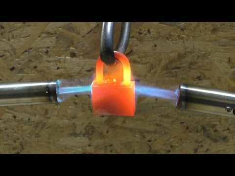 2  GAS TORCH VS PADLOCK