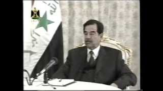 الرئيس صدام حسين و حديثة عن أسلحة الدمار