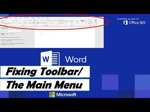 Microsoft Word Menu/Toolbar DISAPPEARED! How to get the Menu/Toolbar to SHOW up permanently?