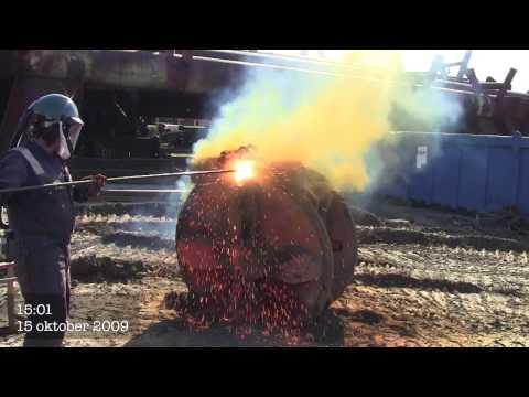 Thermal Lance Cutting-melting Concrete  Magnesium