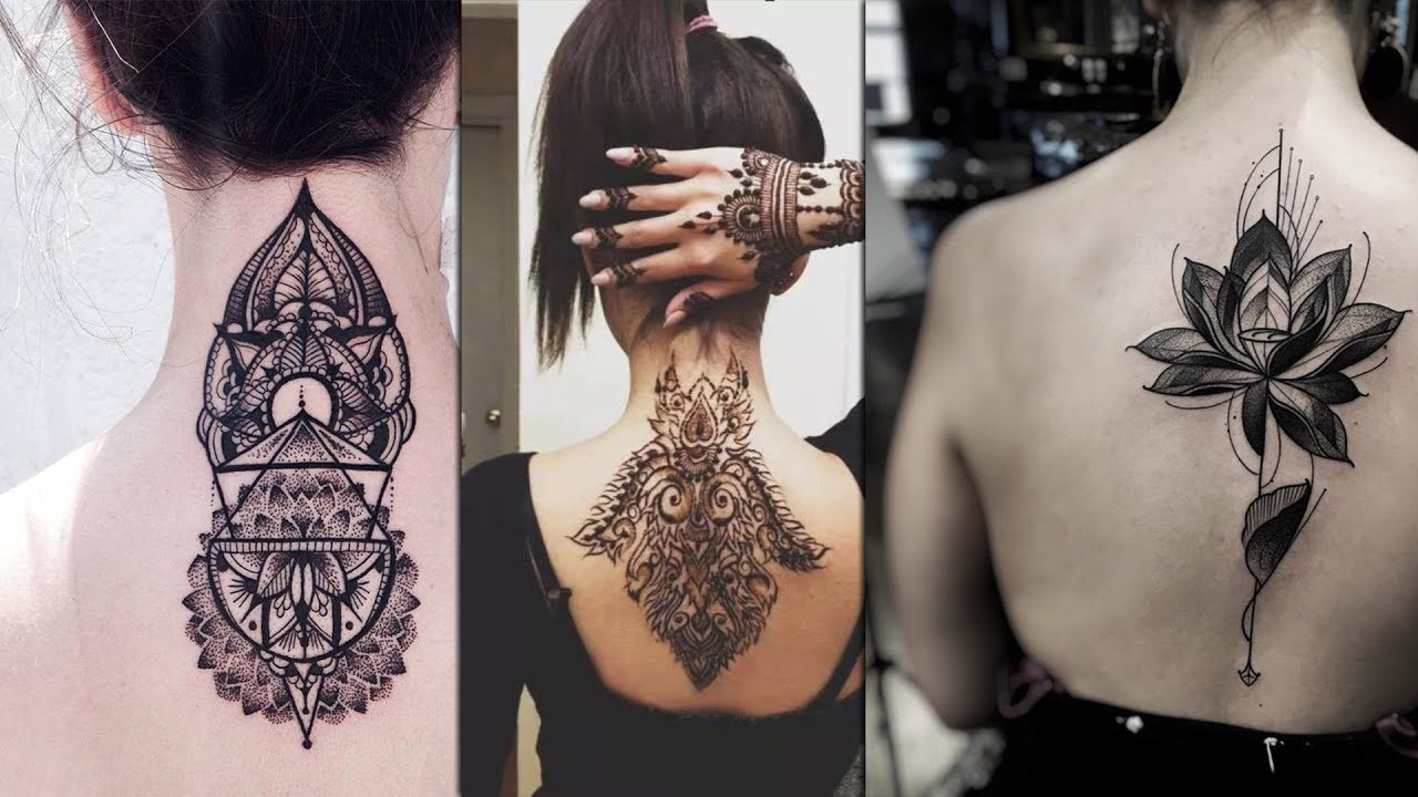 Geometric Back Neck Tattoo Design Collections Idle for Men & Women ...