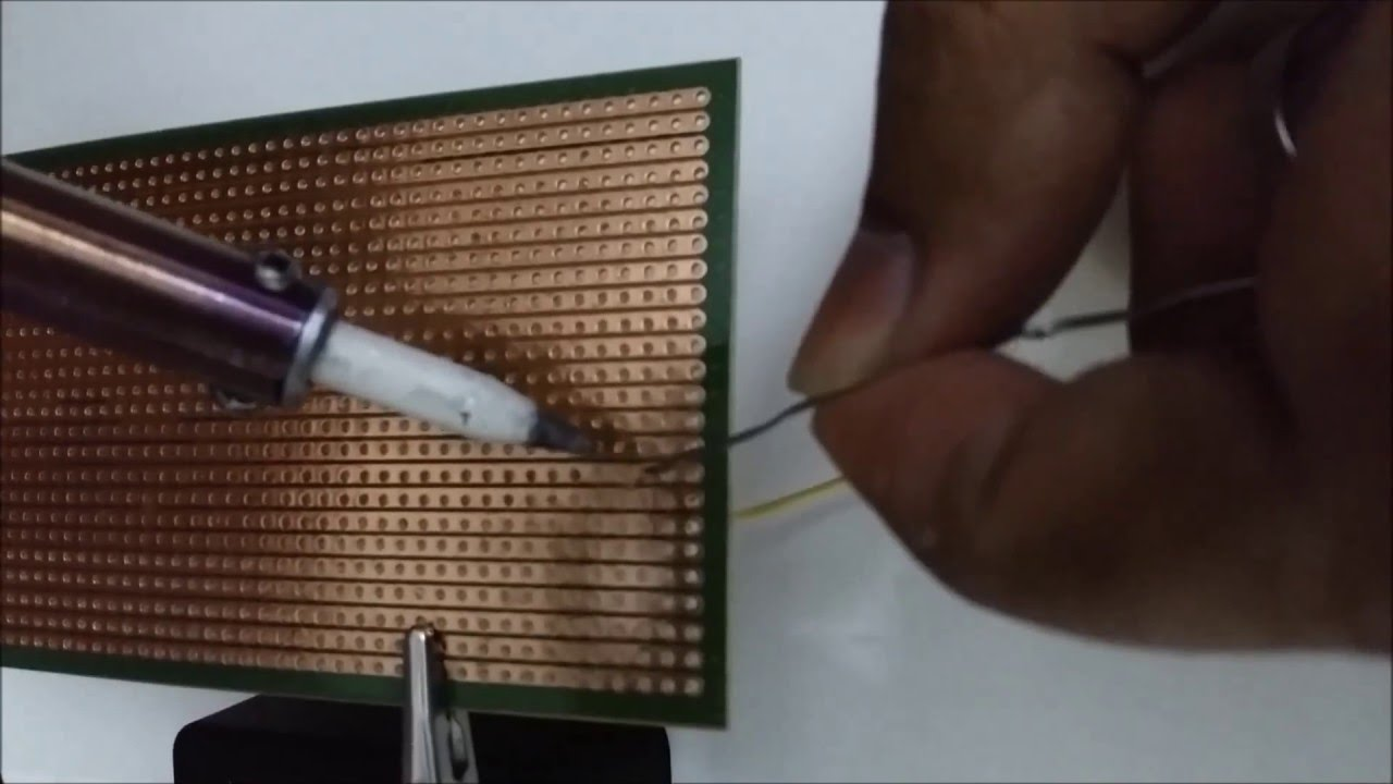 How To Solder Wire In Vero Board Pcb Youtube Wiring Nail