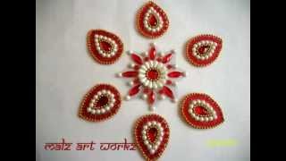 Kundan Rangoli Designs Small
