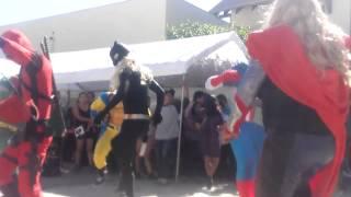 Los Super Heroes en la fiesta de los Oaxaquenos.