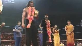 Great Khali dancing on punjabi song after winning heavy weight champion   YouTube