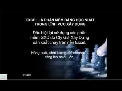 Khóa học Excel chuyên ngành Kinh tế dự toán, dự toán công trình