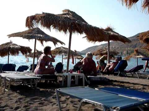 Mijn strandvakantie op Lesbos. My vacation view from the beach of Petra, Lesvos.