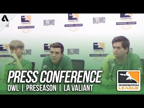 Overwatch | Los Angeles Valiant Press Conference - Overwatch League Preseason | Akshon Esports