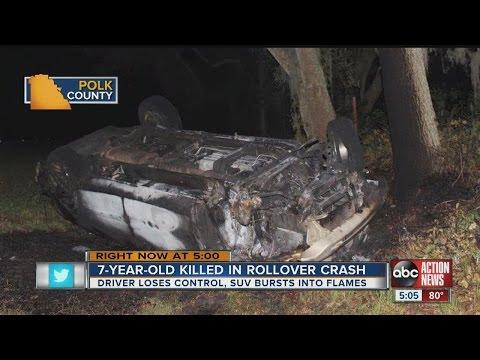 Polk County rollover crash kills 7-year-old