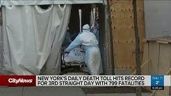 NY's daily coronavirus death toll hits record for 3rd straight day
