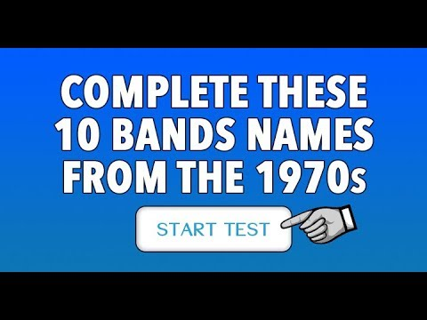 Quiz : Complete These 10 Band Names From The 70s
