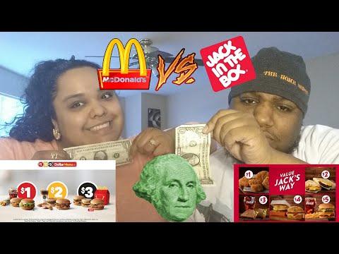 McDonald's $1 $2 $3 Dollar Menu Vs Jack In The Box Value Jack's Way