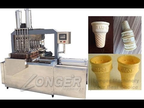 Ice Cream Cone Biscuit Machine|Equipment For Making Ice Wafer Cones WhatsApp +8618537181190