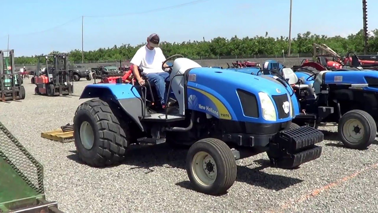 2009 New Holland T5070 Wheel Tractor | BidCal, Inc  - Live