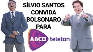Silvio Santos convida Bolsonaro para participar do encerramento do Teleton 2018