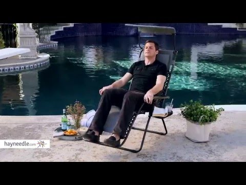 Coral Coast Zero Gravity Chair with Sunshade and Drink Tray - Product Review Video