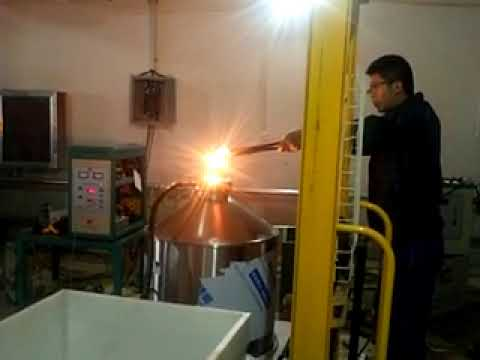 Melting with electromagnetic induction heating machine
